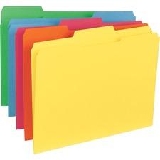 BSN 21274 Bus. Source 1/3-cut Tab Colored File Folders BSN21274