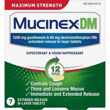 RAC 07207 Reckitt Benckiser Mucinex DM Cough Tablets RAC07207