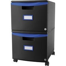 STX 61314U01C Storex Ind. 2-drawer Mobile File Cabinet STX61314U01C