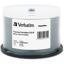 VER 94795 Verbatim DataLife Plus White Thermal CD-R VER94795