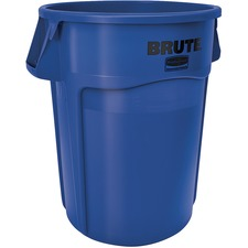"""Rubbermaid Commercial Brute Waste Container - 166.56 L Capacity - Stackable, Tear Resistant, Damage Resistant, Ergonomic Handle, Crush Resistant, Vented, UV Coated, Fade Resistant, Warp Resistant, Crack Resistant, Reinforced Base, ... - 31.5"""" Height x 24"""" Width x 27.8"""" Diameter - Resin - Blue - 1 Each"""