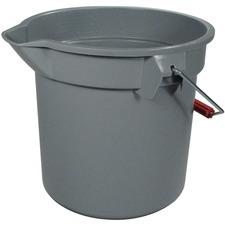 Rubbermaid Brute Pail Bucket - 13.20 L - Graduated, Heavy Duty - Gray