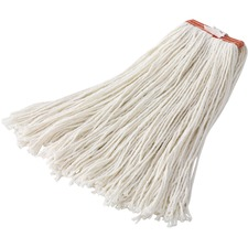 """Rubbermaid Commercial 20 oz Dura Pro Blend Wet Mop, 1"""" Headband, White - Cotton, Rayon, Synthetic Yarn"""