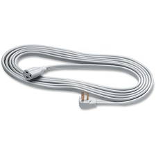 Heavy Duty Indoor 15' Extension Cord - 125 V AC / 15 A - Gray - 15 ft Cord Length