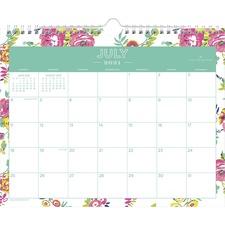 BLS 107936 Blue Sky Peyton Floral Academic 11x9 Wall Calendar BLS107936