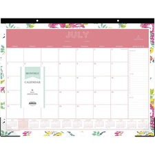BLS 107938 Blue Sky Peyton Floral Academic Desk Calendar BLS107938