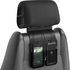 ChargeTech Car Charging Station - Wired - iPhone, Smartphone, e-book Reader, Camera - Charging Capability - Black