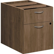 "HON Foundation Pedestal File - 2-Drawer - 15.5"" x 20.6"" x 20.5"" - 2 x File Drawer(s), Box Drawer(s) - Material: Metal Handle - Finish: Pinnacle, Thermofused Laminate (TFL), Silver Handle"