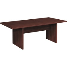 """HON Foundation Conference Table - 72"""" x 36"""" , 1"""" Table Top, 1"""" Table Base - Material: Thermofused Laminate (TFL) - Finish: Mahogany"""