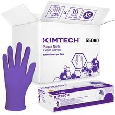 KCC 55080CT Kimberly-Clark Purple Nitrile Exam Gloves KCC55080CT