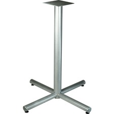 LLR 34431 Lorell Silver Bistro-height X-leg Table Base LLR34431