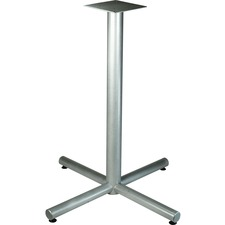LLR 34432 Lorell Silver Bistro-height X-leg Table Base LLR34432