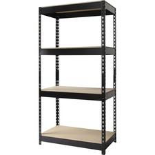 LLR59704 - Lorell 4-shelf Riveted Steel Shelving Unit
