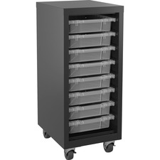 LLR 71104 Lorell Pull-out Bins Mobile Storage Tower LLR71104