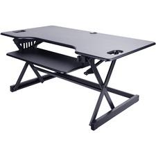 "Lorell XL Adjustable Desk/Monitor Riser - 45 lb Load Capacity - 20"" Height x 46"" Width x 24"" Depth - Desktop - Black"