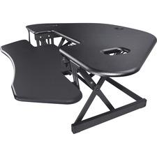 "Lorell Corner Desk Riser - 40 lb Load Capacity - 18"" Height x 45.5"" Width - Desktop - Black"