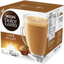 NES 77321 Nestle Dolce Gusto Cafe Au Lait Coffee Capsules NES77321
