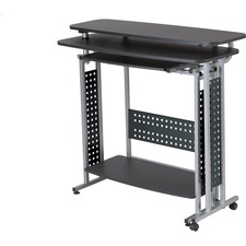 SAF 1974BLKDB Safco Scoot Standing-height Desk SAF1974BLKDB