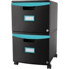 STX 61315U01C Storex Ind. 2-drawer Mobile File Cabinet STX61315U01C