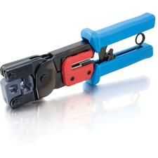 C2G RJ11 and RJ45 Crimping Tool - Black, Blue - Steel - 907.2 g