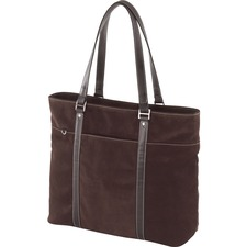 Mobile Edge Chocolate Suede Tote Notebook Case