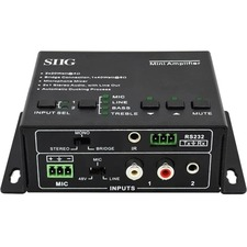 SIIG CE-AU0011-S1 Amplifier - 40 W RMS - 2 Channel - Black