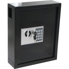 """Royal Sovereign Electronic Key Cabinet - Electronic Lock - for Key - Overall Size 3.9"""" x 11.8"""" x 14.2"""" - Gray - Steel"""