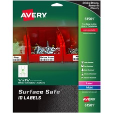 AVE61501 - Avery&reg Surface Safe ID Labels