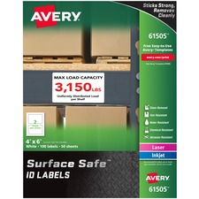 AVE 61505 Avery Surface Safe ID Labels AVE61505