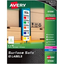 AVE 61506 Avery Surface Safe ID Labels AVE61506