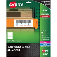 AVE 61507 Avery Surface Safe ID Labels AVE61507