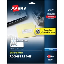 AVE6530 - Avery® Easy Peel Metallic Border Address Labels