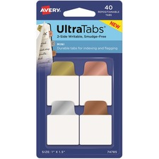 AVE 74785 Avery UltraTabs Metallic Color 2-sided Mini Tabs AVE74785