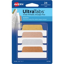 AVE 74786 Avery UltraTabs Repositionable Margin Tabs AVE74786