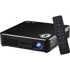 Business Source DLP Projector - Front - LED - 80 lm - HDMI - USB - Black Color