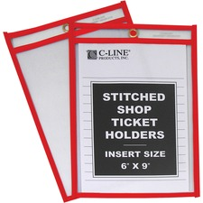 CLI 43969 C-Line Hanging Strap Shop Ticket Holder CLI43969