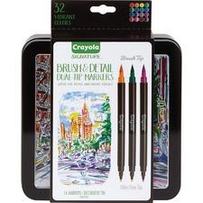 CYO 586501 Crayola Brush & Detail Dual Tip Markers CYO586501