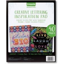 CYO 990026 Crayola Creative Lettering Inspiration Pad CYO990026
