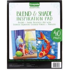 CYO 990028 Crayola Blend & Shade Inspiration Pad CYO990028