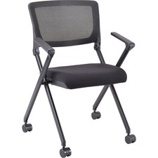 LLR41845 - Lorell Plastic Arms Mesh Back Nesting Chair