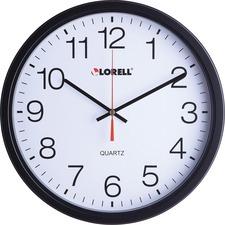 """LLR 61008 Lorell 12-1/2"""" Slimline Quartz Wall Clock LLR61008"""