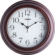 "LLR 61010 Lorell 11-3/4"" Antique Design Classic Wall Clock LLR61010"