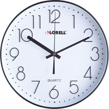 "LLR 61011 Lorell 12"" Quiet Wall Clock LLR61011"