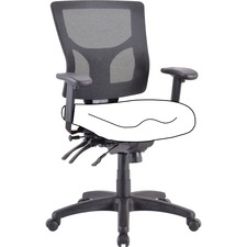 LLR 62003 Lorell Mesh Mid-back Chair Frame LLR62003
