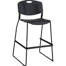 LLR 62535 Lorell Heavy-duty Bistro Stack Chair LLR62535