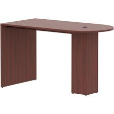 LLR 69544 Lorell Essentials Laminate Peninsula Cafe Table LLR69544