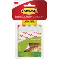 MMM 17024136ES 3M Removable Command Adhesive Poster Strips MMM17024136ES
