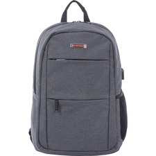 SWZ BKP1025SMGRY Swiss Mobility Lightweight Business Backpack SWZBKP1025SMGRY