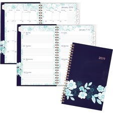 AAG1131201 - At-A-Glance Cambridge Midnight Magnolia Planner