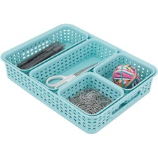 AVT37817 - Advantus Plastic Weave Bin Set
